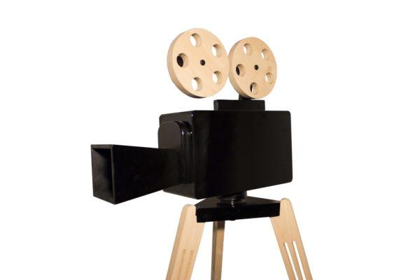 Black wooden camera
