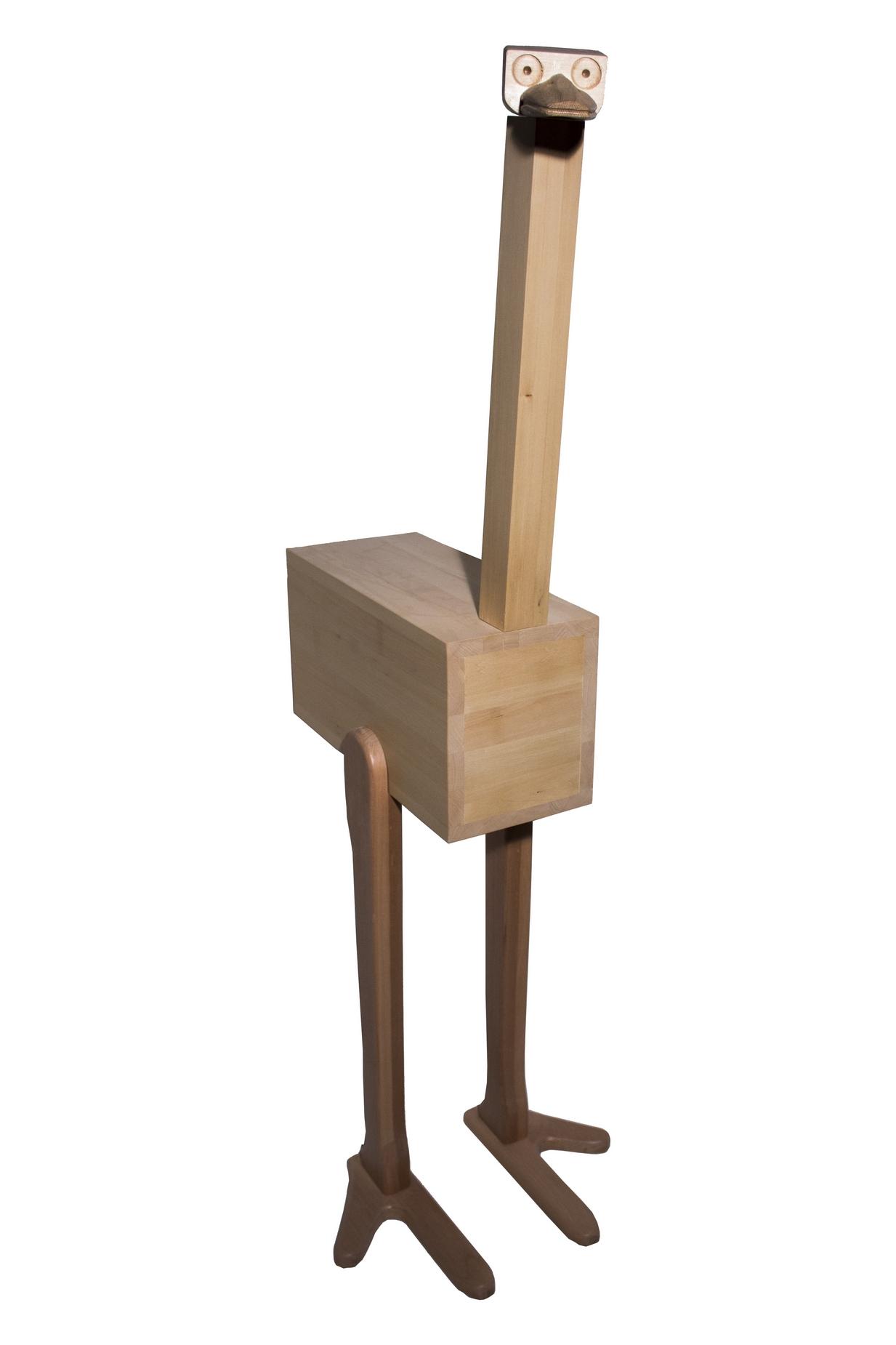 Handmade Wooden Ostrich