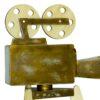 Koptatott arany kamera fából