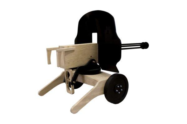 Maxim Gun replica from wood