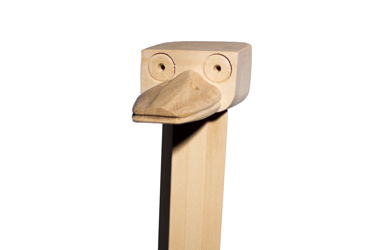 Wooden Ostrich